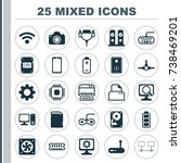 computer chip icons set.... | Shutterstock .eps vector #738469201
