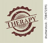 red therapy distressed rubber... | Shutterstock .eps vector #738472591