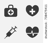 medicine icons set. collection... | Shutterstock .eps vector #738475411
