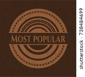 most popular wooden emblem.... | Shutterstock .eps vector #738484699