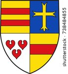 coat of arms of cloppenburg is... | Shutterstock .eps vector #738484855