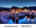 Hoover Dam At Night