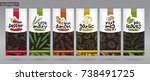 spice packaging set   2 | Shutterstock .eps vector #738491725
