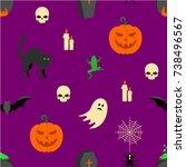 halloween seamless texture | Shutterstock .eps vector #738496567