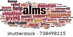 alms word cloud concept. vector ... | Shutterstock .eps vector #738498115