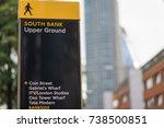 a street sign in upper ground... | Shutterstock . vector #738500851