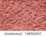 old style vintage pink plaster... | Shutterstock . vector #738502357