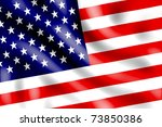 american flag lit by sunlight... | Shutterstock . vector #73850386
