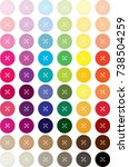 buttons colorful 4 holes... | Shutterstock .eps vector #738504259