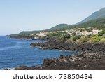 volcanic coastline landscape of ... | Shutterstock . vector #73850434
