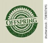 green offspring rubber grunge... | Shutterstock .eps vector #738507691