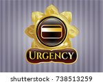 shiny badge with credit card... | Shutterstock .eps vector #738513259