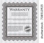 grey vintage warranty... | Shutterstock .eps vector #738513925