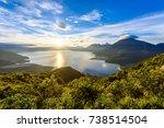 sunrise in the morning at lake... | Shutterstock . vector #738514504