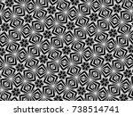 ornament with elements of black ... | Shutterstock . vector #738514741