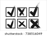 check box list icons set  black ... | Shutterstock .eps vector #738516049
