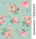 floral pattern | Shutterstock .eps vector #738516295