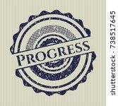 blue progress distress rubber...