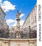 Small photo of St. Florian statue on Alter markt square landmark of Salzburg, Austria