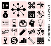 set of 22 business icons ...