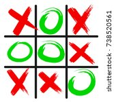 tic tac toe game icon  isolated ... | Shutterstock .eps vector #738520561