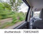scenery seen from the inside of ... | Shutterstock . vector #738524605