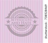 between love and hate pink... | Shutterstock .eps vector #738528469
