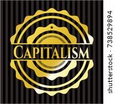 capitalism gold shiny badge | Shutterstock .eps vector #738529894
