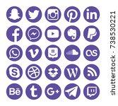 collection of popular social...   Shutterstock . vector #738530221