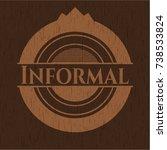 informal vintage wood emblem | Shutterstock .eps vector #738533824