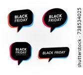 set of black friday retro... | Shutterstock .eps vector #738534025