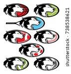 husky mascot athletics | Shutterstock .eps vector #738538621