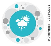 vector illustration of climate... | Shutterstock .eps vector #738543331