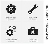 set of 4 editable service icons....