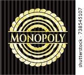 monopoly gold emblem or badge | Shutterstock .eps vector #738545107