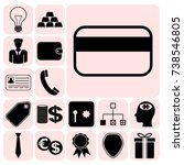 set of 17 business icons ...   Shutterstock .eps vector #738546805