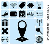 set of 17 business high quality ...   Shutterstock .eps vector #738548779