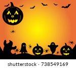 halloween pumpkin graphic... | Shutterstock .eps vector #738549169