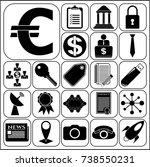 set of 22 business symbols of...   Shutterstock .eps vector #738550231