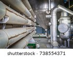 pipe line in process area of... | Shutterstock . vector #738554371