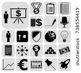 set of 22 business high quality ...   Shutterstock .eps vector #738554419