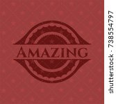 amazing red emblem. retro | Shutterstock .eps vector #738554797