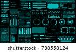 hud hologram futuristic... | Shutterstock .eps vector #738558124