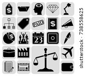 set of 22 business high quality ... | Shutterstock .eps vector #738558625