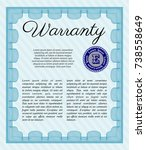 light blue formal warranty... | Shutterstock .eps vector #738558649