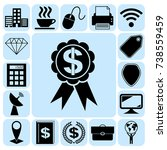 set of 17 business icons ...   Shutterstock .eps vector #738559459