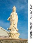 Buddhas Stand On Blue Sky...