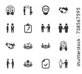 business deal icons  | Shutterstock .eps vector #738567595