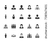 business people icons    Shutterstock .eps vector #738567601