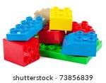 plastic building blocks... | Shutterstock . vector #73856839